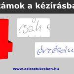 4-es számra hasonlító betűk a kézírásban