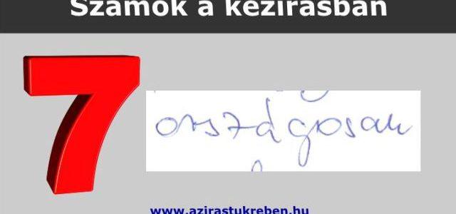 Számok a kézírásban – 7
