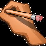 kéz, ami a tollat forgatja