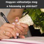 Asszonynév-aláírás változások a grafológia tükrében